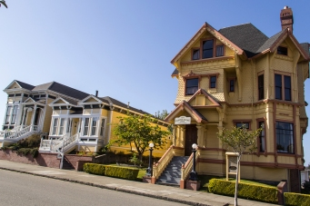 Victorian houses in Eureka, Calif.